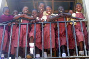 Photo: A group of schoolgirls smiling